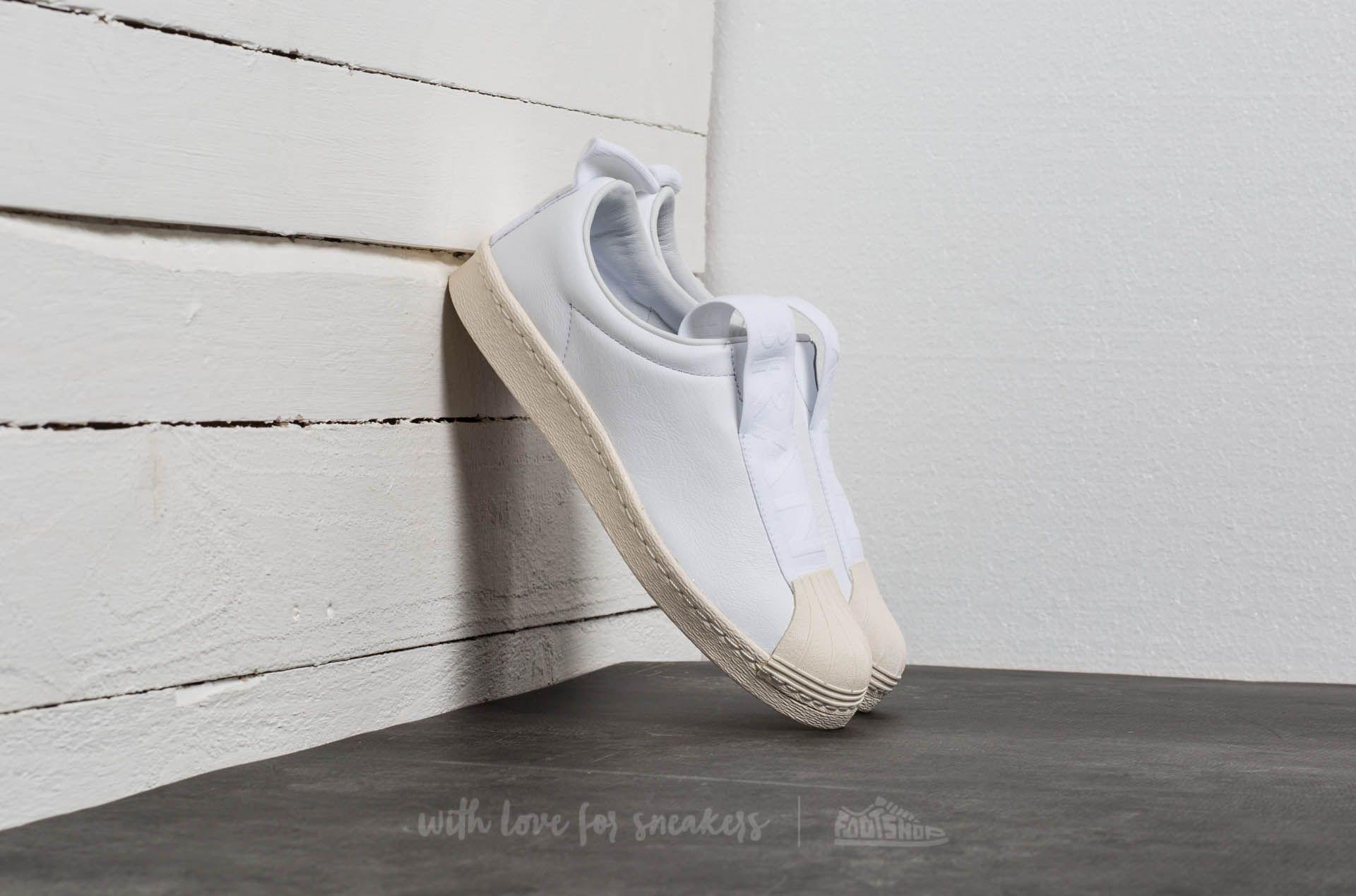 Adidas Superstar Brand With 3 Stripes Slip On Ftw White/ Ftw White/ Off White