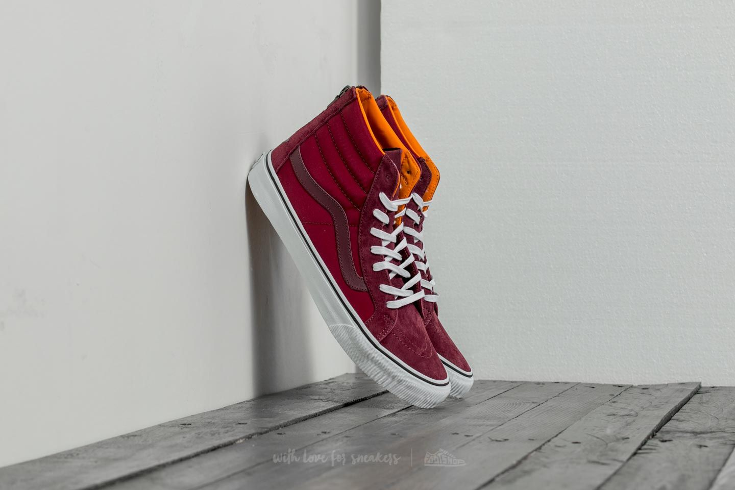 Vans Sk8-hi Slim Zip (boom Boom) Port Royale/ True White