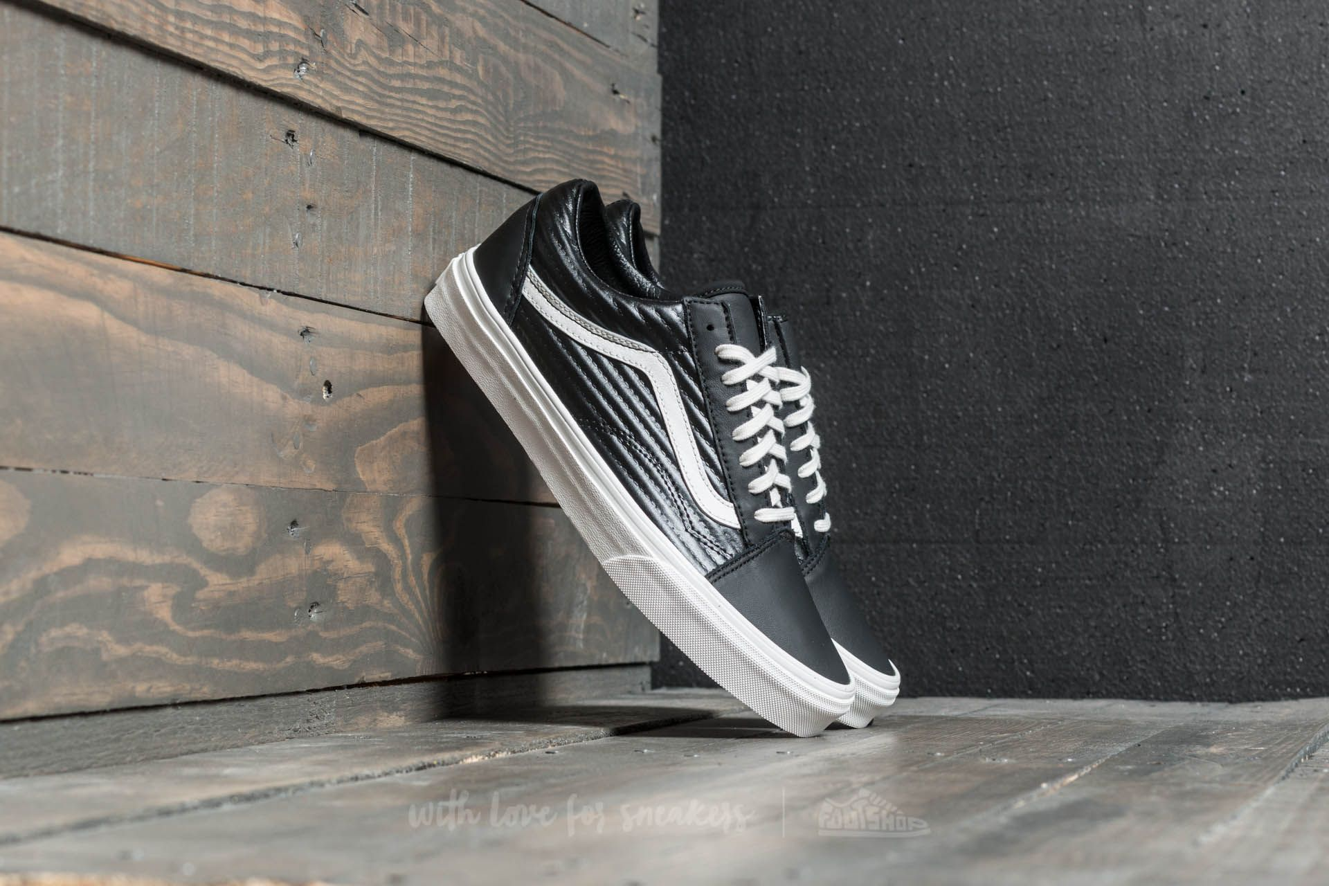 Vans Old Skool (moto Leather) Black/ Blanc De Blanc