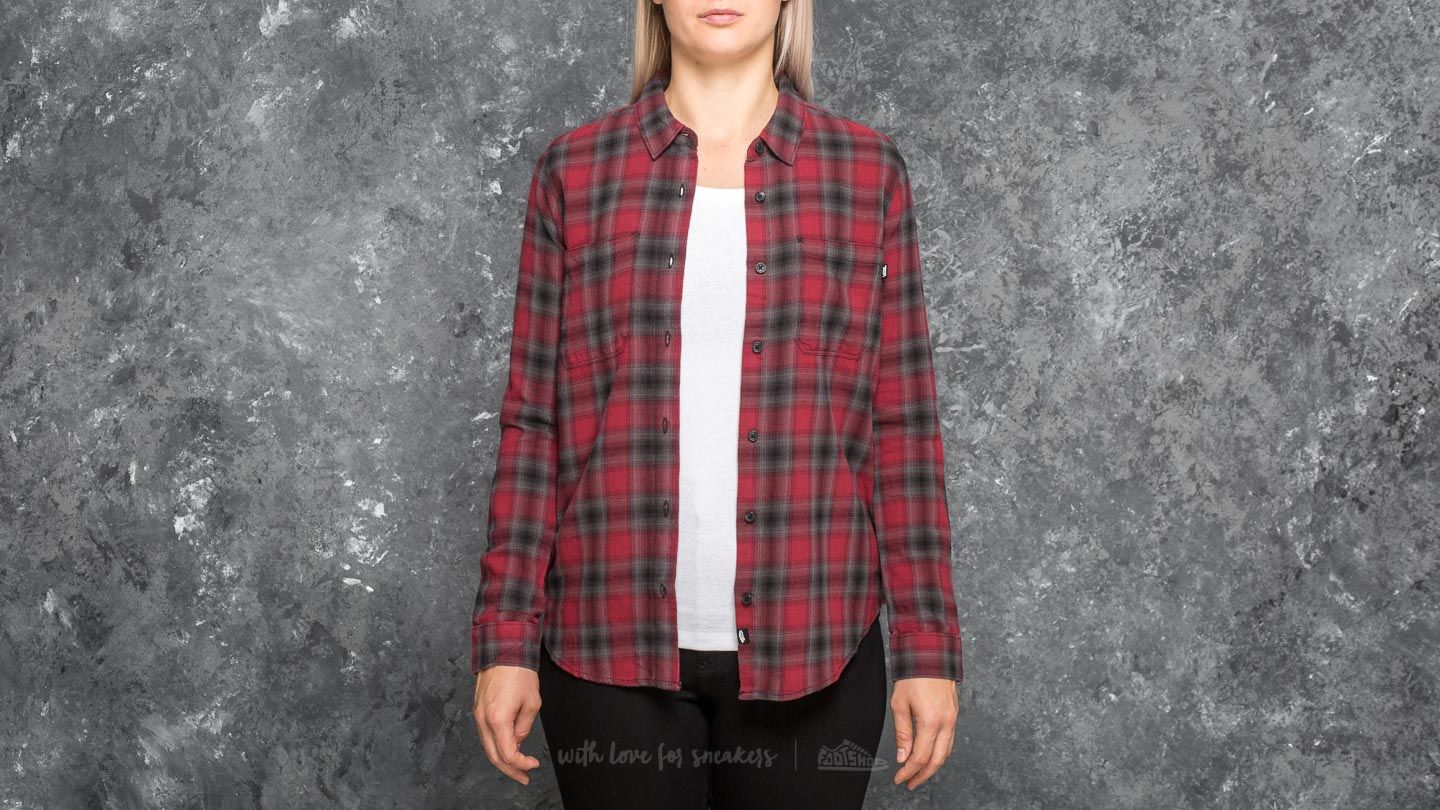 Vans Meridian Flannel Shirt Tibetan Red
