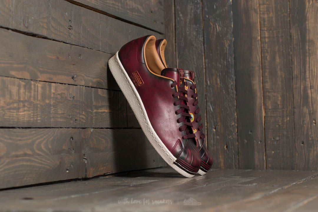 Adidas Consortium X Limited Edt Superstar 80s Vault Dark Burgundy/ Dark Burgundy/ Mesa