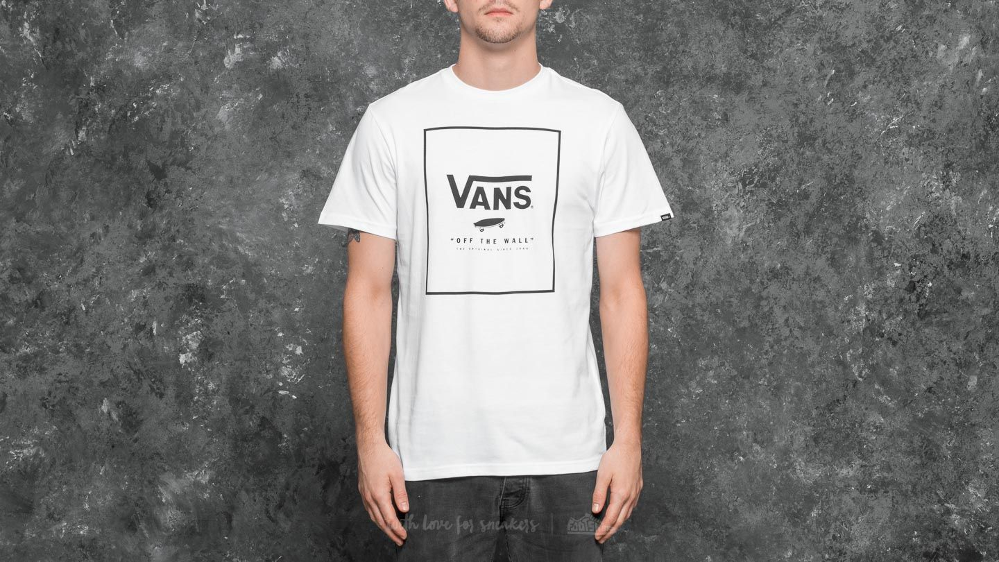 Vans Print Box Tee White-black