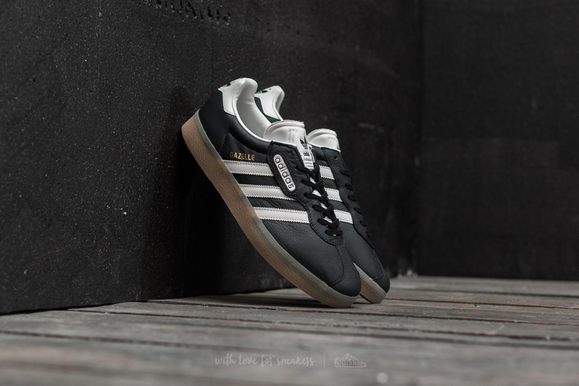 Adidas Gazelle Super Core Black/ Vintage White/ Gum