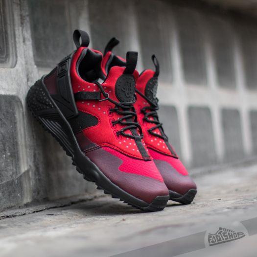 womens nike huarache utility black red