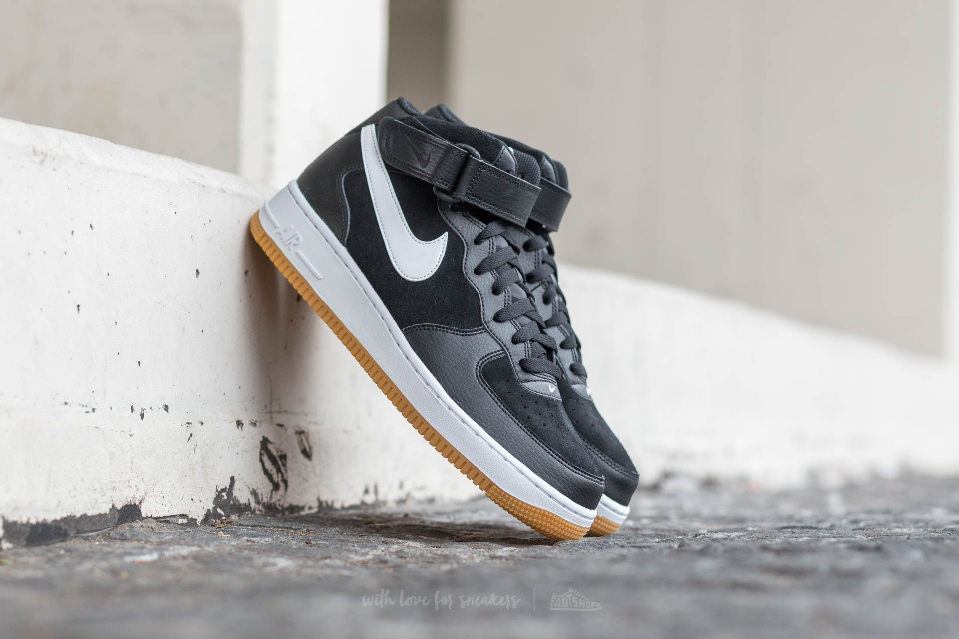 Buy Nike Air Force 1 Mid 07 Medium Grey White Basketball Shoes 9152 50d2a81d0562