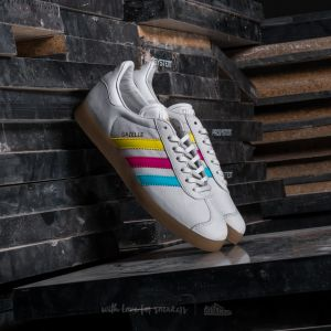 adidas Gazelle Vintage White/ Bright Cyan/ Shock Pink